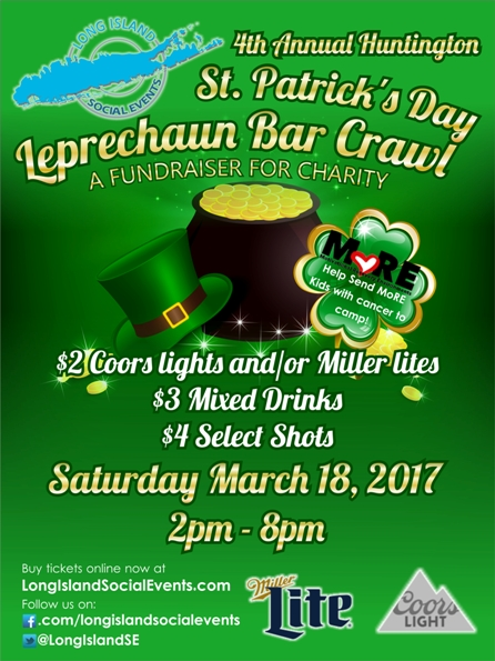 Huntington St Patrick's Day Bar Crawl 3/18/17