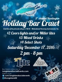 Huntington Holiday Bar Crawl 2016