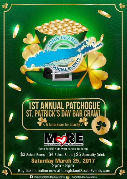 Patchogue St Patrick's Day Bar Crawl 3/25/17